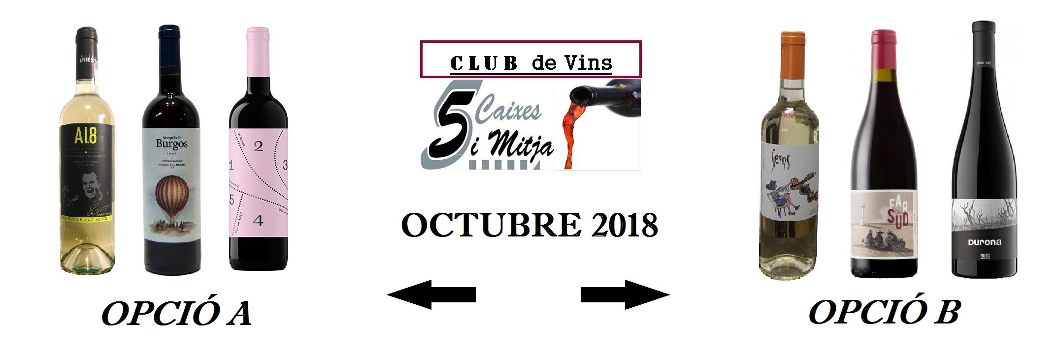 Selecció de Octubre 2018 – Club de Vins